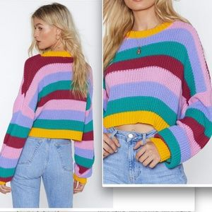 NWT Nasty Gal Bring Knit Sweater- SOLD OUT ONLINE!